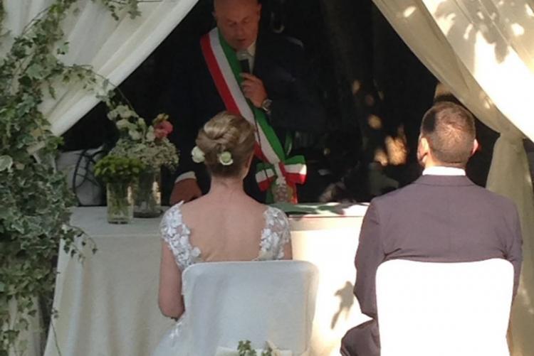 Celebrazione matrimonio a Villa Pocci