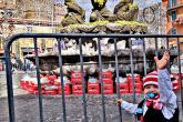 Massimiliano Gregori - Piazza Matteotti addobbata a festa in occasione della 95esima Sagra dell'Uva. Tommaso augura a tutti una felice e festosa Sagra. Musica,tradizione e sacralita